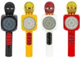Microfon Karaoke cu Bluetooth si joc de lumini, diverse culori