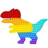 Jucarie senzoriala, antistres Pop it Now and Flip it, Dinozaur, curcubeu, XXL, 45 cm