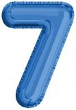 Balon, folie aluminiu, albastru, cifra 7, 81 cm