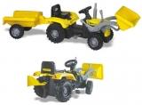 Tractor excavator cu pedale si remorca Dolu