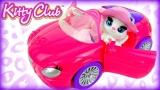 Figurina si masinuta decapotabila Kitty Club