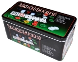 Set Poker din plastic, metal si material textil