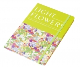 Notes light flowers A5 cu elastic verde