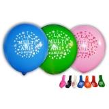 Baloane mari multicolore, La Multi Ani, 100 buc/set