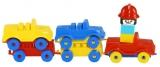 Trenulet cu masinute si figurina Tupiko
