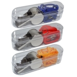 Fluier din metal cu snur in cutie, diverse modele