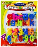 Set litere si cifre magnetice multicolore