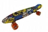 Placa skateboard Grafitti roti silicon cu led