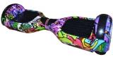 Scuter electric hoverboard cu acumulator bluetooth si boxe Grafitti fete