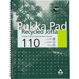 Caiet cu spira A5, 55 file, dictando Jotta Recycled Pukka Pads
