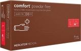 Manusi examinare latex, fara pudra, L, 100 buc/set Comfort