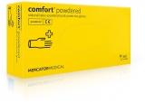 Manusi examinare latex, cu pudra, XL, 100 buc/set Comfort