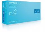 Manusi examinare latex, Blue, cu pudra, M, 100 buc/set Comfort