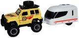 Jucarie Jeep cu rulota, cu frictiune