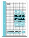 Rezerva caiet mecanic A4 50 file matematica Pigna