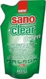 Solutie pentru curatat geamuri rezerva Sano Clear 750 ml green