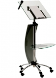 Pupitru mobil pentru prezentari, accesorii, inaltime reglabila, suport microfon Rocada