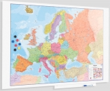 Whiteboard Skinmap magnetic, suprafata lacuita, fara cadru, modular, harta Europei, 100 x 150 cm Rocada