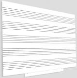 Whiteboard Skinmusic magnetic, suprafata lacuita, modular, 100 x 150 cm Rocada