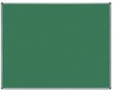 Tabla verde magnetica pentru creta, suprafata emailata, rama aluminiu, 150 x 120 cm Rocada