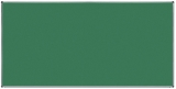 Tabla verde magnetica pentru creta, suprafata emailata, rama aluminiu, 240 x 120 cm Rocada
