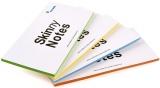 Skinny notes 200 x 100 mm, set 4 blocuri de 100 foi, fara adeziv, Rocada