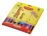Creioane colorate culori mari 24 culori School Office