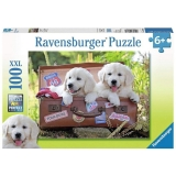 Puzzle Catei In Valiza, 100 Piese Ravensburger