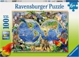 Puzzle Animalele Lumii, 100 Piese Ravensburger