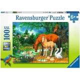 Puzzle Animale La Iaz, 100 Piese Ravensburger