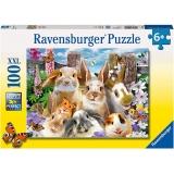 Puzzle Iepurasi, 100 Piese Ravensburger