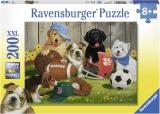 Puzzle Catelusi Sportivi, 200 Piese Ravensburger