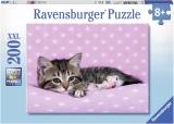 Puzzle Pisicuta Pe Patura, 200 Piese Ravensburger