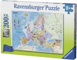 Puzzle Harta Europei, 200 Piese Ravensburger