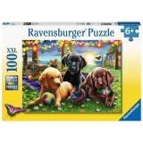 Puzzle Catei La Picnic, 100 Piese Ravensburger
