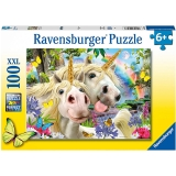 Puzzle Selfie Cu Unicorni, 100 Piese Ravensburger