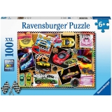 Puzzle Masini De Curse, 100 Piese Ravensburger