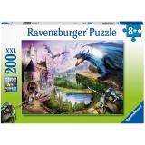 Puzzle Castel Si Dragoni, 200 Piese Ravensburger