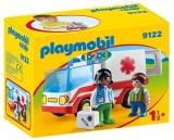 1.2.3. Ambulanta Si Echipajul De Salvare Playmobil