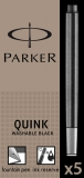 Rezerva stilou negru lavabil standard 5 bucati/set  Quink Parker
