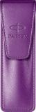 Etui economic Leather Emboss Purple Parker