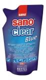 Solutie pentru curatat geamuri rezerva Sano Clear 750 ml blue