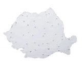 Sablon harta mare a Romaniei 185 x 255 mm Flaro