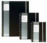 Caiet cu spira dubla A5, 80 file, dictando, Black Pukka Pads