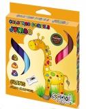 Creioane colorate triunghiulare Jumbo Premium 12 culori S-Cool