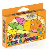 Creioane cerate Jumbo 12 culori S-Cool