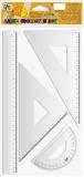 Trusa geometrie 4 piese/set liniar 30 cm S-Cool