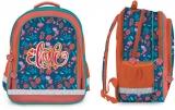Ghiozdan scolar fete ergonomic, neechipat, 3 compartimente, Love S-Cool