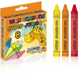 Creioane cerate Jumbo, 8 buc/set S-Cool