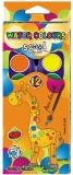 Acuarele 12 culori, 28 mm + pensula, Premium S-Cool